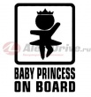 Наклейка Baby Princess on board